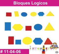 Bloques Logicos MATERIAL DIDACTICO PLASTICO INTQUIETOYS PRIMERDI