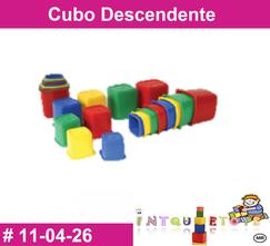 Cubo Descendente MATERIAL DIDACTICO PLASTICO INTQUIETOYS PRIMERDI