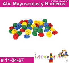 Abc mayusculas y numeros para estampar  MATERIAL DIDACTICO PLASTICO INTQUIETOYS PRIMERDI
