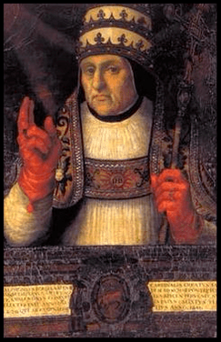 Cuadro del Pintor Juan de Juanes del Papa Calixto III.