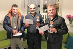 Rapid-Open 2018: mit FM Goran Milosevic (2.), IM Ali Habibi (1.), FM Mahmut Xheladini (3.)