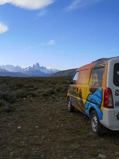 El Chalten, Fitz Roy, Camper, Patagonien