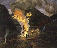 Feux de la St Jean (Nikolai Astrup, 1912)