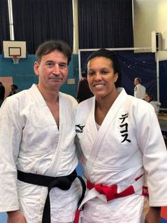 Lucie Décosse en compagnie de Pascal Thévenot.