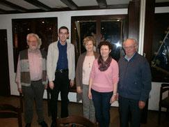 v.l.n.r. Josef Peer, Dirk Altmann, Hedi Lucas, Petra Peer-Baumann und Albert Rapp (Foto: H. Wiegand).