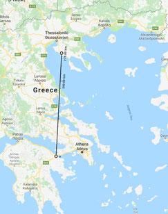 Strecke Semifinale Korinth, 270 km