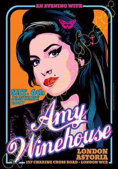 amy winehouse, amy winehouse concert, amy winehouse poster