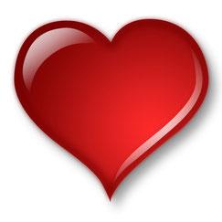 Cœur rouge Saint-Valentin