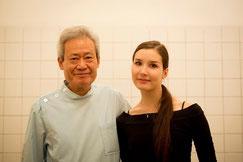 世界三大バレエ団キエフバレエのソリストオレーサ・シャイタノワさんと大杉会長