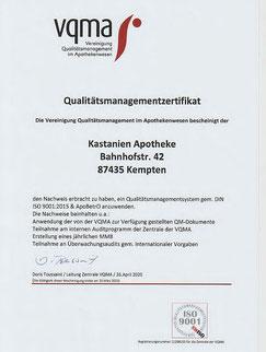 QMS Zertifikat