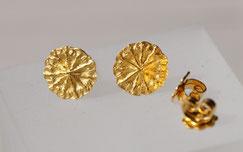 Ohrstecker mit Mohnmotiv aus Silber vergoldet