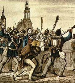 Niederschlagung des Maiaufstandes 1849 in Dresden