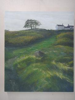 日本画 『風の丘』