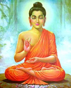 Der erleuchtet Buddha