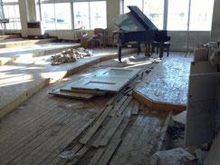 宮城県名取市閖上中学校音楽室