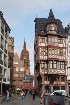 Blick vom Römerberg zum Dom