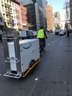 Amazon setzt in New York auf Lastenanhänger aus Freiburg