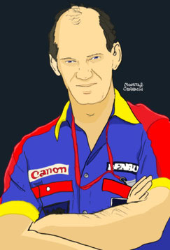 Adrian Newey by Muneta & Cerracín