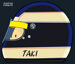 Helmet of Taki Inoue by Muneta & Cerracín
