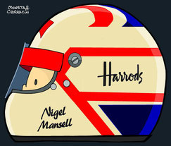 Helmet of Nigel Mansell  by Muneta & Cerracín
