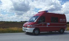 Gerätewagen Messtechnik auf Erkundungsfahrt bei Potzham