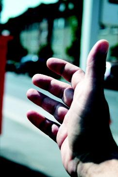Symbolbild von einer Hand