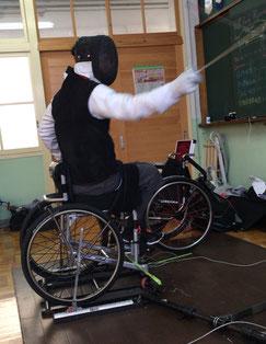 練習をする笹島選手