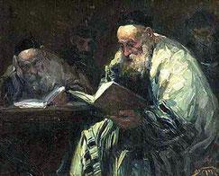 Изучение Талмуда (художник Авраам Адольф Берман)