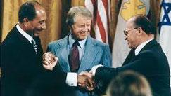 Sadat, Carter und Begin - Friedensvertrag 1979