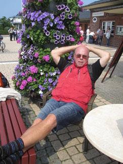 Strandläufer Dr. Gerd Boesken in der Erholungsphase