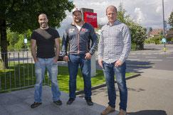vl. Daniel Isler, Frutiger AG, Thomas Sempach, Michael Waber, Frutiger AG