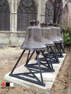 Anciennes cloches de Notre-Dame de Paris. © TEMPLE DE PARIS