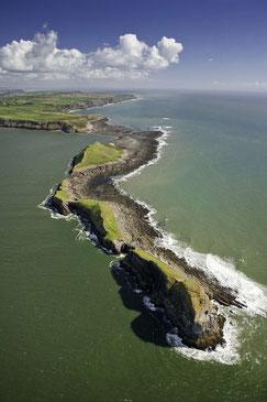 Wunderschöne Küste am Worms Head auf der Gower Halbinsel © Crown copyright (2019) Cymru Wales