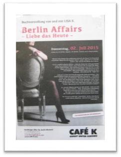 Ankündigung zur Lesung im Café K. am 2.7.2015