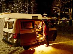 Wintercamping mit dem VW Bus