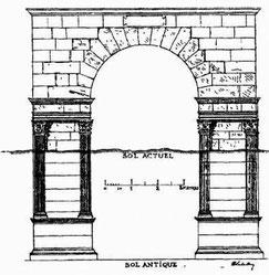 Teboursouk (Thubursicum Bure) : Restitution de la Porte murée