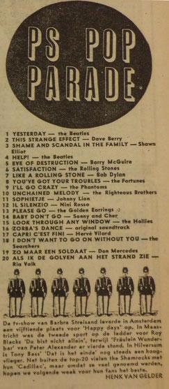 Parool top 20, 30 oktober 1965