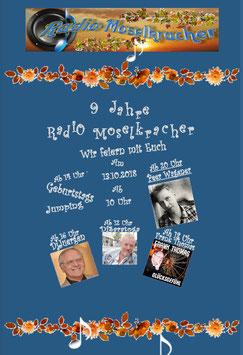 Gastmoderation am 13.10.2018 von 20 - 22 Uhr bei www.radio-moselkracher.de