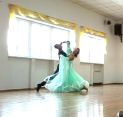Couple dancing as ONE