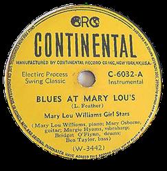 Mary Lou Williams Girl Stars