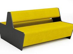 Lounge-Doppelbank mit Rückenlehne