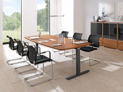 Besprechungstische, Konferenztische, Konferenztischanlagen