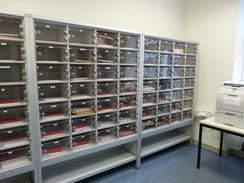 Post-Schließfachanlagen mit Plexi-Türen