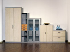Büroschränke, Aktenregale, Sideboards