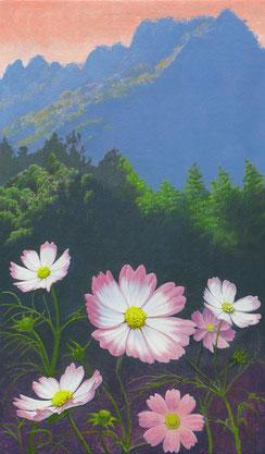 秋香る山 油彩 41x24.2cm