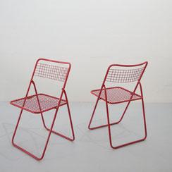Niels Gammelgaard für IKEA, 2er Set Stühle TED NET in rot, 1970er Jahre