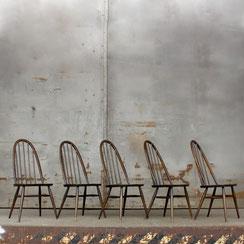 5er Set ERCOL Esszimmerstühle, Conni Kern Interior, Design und vintage Möbel in Mannheim