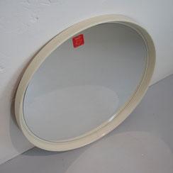großer runder vintage Wandspiegel in weiß 60er 70er Jahre Spiegel