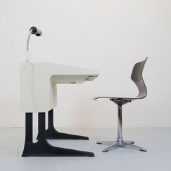 vintage Flötotto Schreibtisch Set Optimal Luigi Colani Stuhl Lampe 60er 70er