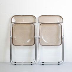 2 Plia Klappstühle Giancarlo Piretti für Castelli Rauch Acryl vintage mid century modern COnni Kern Mannheim Wohnungsauflösungen
